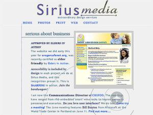 Sirius-Media.com in 2008